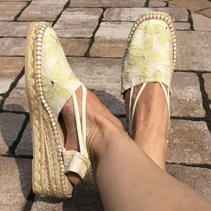 Eric Michael Embroidered Floral Espadrille Sandal